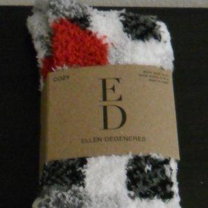 Plaid fuzzy slipper socks